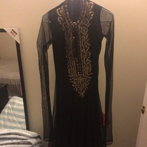 Indian black and gold suit size small